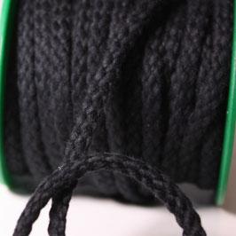 Baumwollkordel 5,3mm schwarz