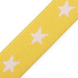 Gummiband 'Sterne' 20 mm gelb