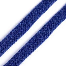 Flachkordel 10mm blau delta