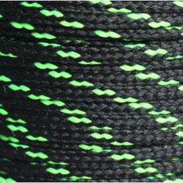 Polyesterschnur 4mm schwarz-neongrün