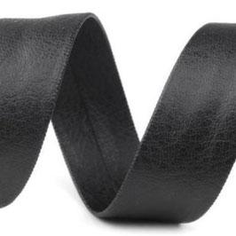 Schrägband 15mm schwarz Kunstleder