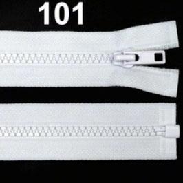 Reißverschluss weiß, 45 cm teilbar