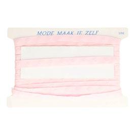 Druckknopfband 18mm rosa, runde Snaps