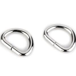 D-Ring 15mm Durchzug Nickel