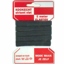 5 Meter Gummiband 10mm schwarz