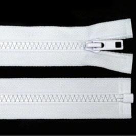Reißverschluss weiß, 40 cm teilbar