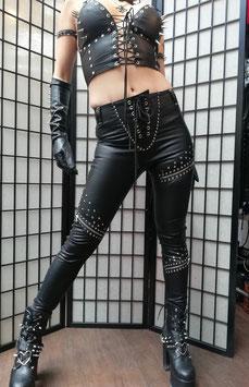Black Snake Faux Leather Pants #4/4
