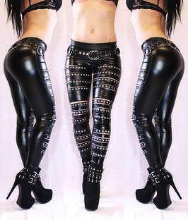 Studded Wetlook Leggings #1/12
