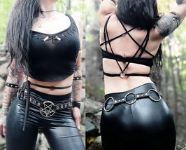 Laced up Pentagram Top #666/1