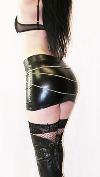 Black Wetlook Skirt #1/5
