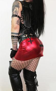 Red Wetlook Skirt #1/7