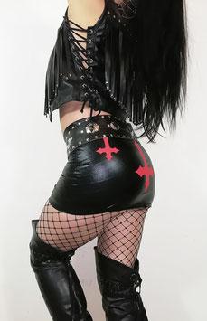 Black Wetlook Skirt #1/6