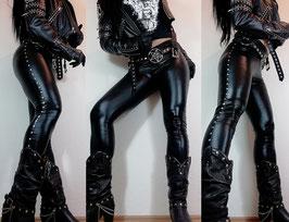 Studded Wetlook Leggings #1/2