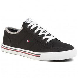TOMMY HILFIGER Corporate Textile Sneaker Noir