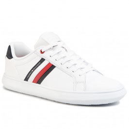 TOMMY HILFIGER Essential Leather Cupsole Blanc