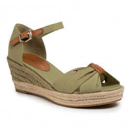 TOMMY HILFIGER Basic Opened Toe Mid Wedge Vert