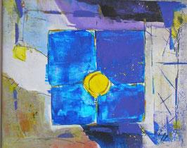 Blau trifft auf gelb