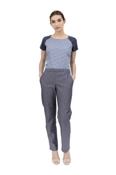 S1948 A, Hose Gummibund, Cotton blue