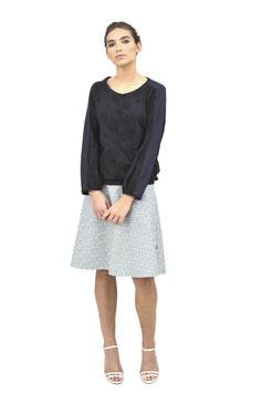 S1931 NL, Shirt mit Oberarmstreifen, Jersey Punkte schwarz / Jersey uni schwarz