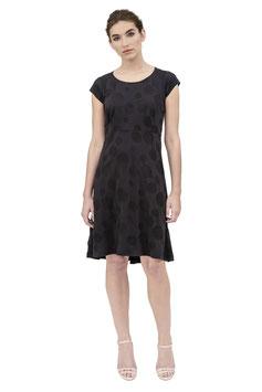 S1919 N, T-Shirtkleid, Jersey Punkte schwarz