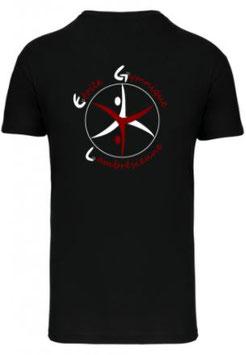 TSHIRT Coton Noir - Logo Dos