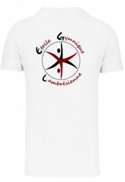 TSHIRT Coton Blanc - Logo Dos