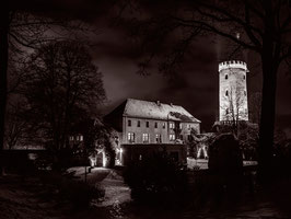 "Acryl Druck ""Sparrenburg Hof"" Black and White"