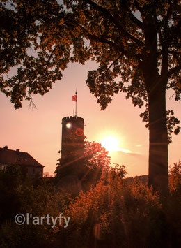 "Alu-Dibond Druck ""Sparrenburg sunset"" by l´artyfy"