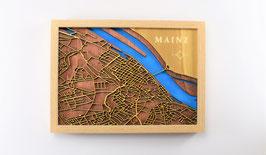 "3D Straßenkarte aus Holz ""Mainz"""