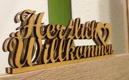 """Schriftzug """"Herzlich Willkommen"""" GOLD"""