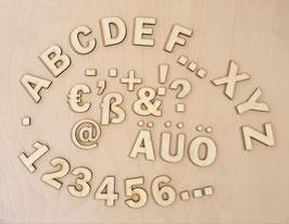 Buchstaben, Zahlen und Sonderzeichen 3,5 cm