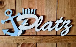Ankerplatz 3D Schriftzug