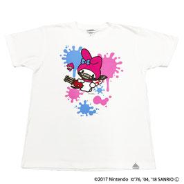 スプラトゥーン×サンリオ 半袖Tシャツ マイメロディ