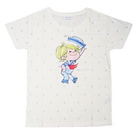水森亜土 半袖Tシャツ イカリ