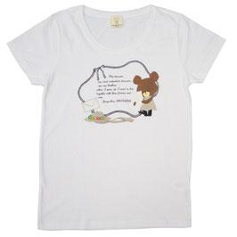 くまのがっこう 半袖Tシャツ テガミ