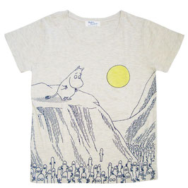 ムーミン 半袖Tシャツ ガケ