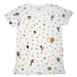 くまのがっこう 半袖Tシャツ アルファベット