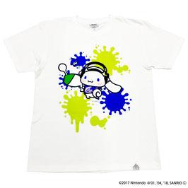 スプラトゥーン×サンリオ 半袖Tシャツ シナモロール