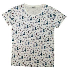 ムーミン 半袖Tシャツ ノハラBL