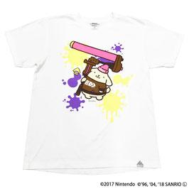 スプラトゥーン×サンリオ 半袖Tシャツ ポムポムプリン