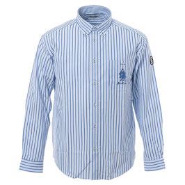 SINA COVA 長袖ボタンダウンシャツ 21224020 920ブルー、ネイビー