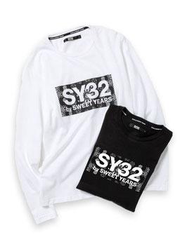 SY32 PAISLEY BOX LOGO L/S TEE TNS1725P