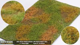 Welberg - M028 Grasmatte Wildwuchs mit Unkraut, Frühherbst, DIN A4 Format