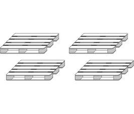Stangel - 0 | Paletten 4 Stück Bausatz