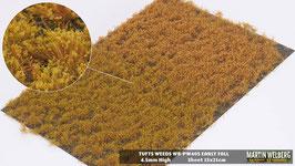 Welberg - PW405 Grasbüschel mit Unkraut,goldener Sommer / Herbst, 2-4 mm, 21x15 cm, einzeln vom Träger entnehmbar