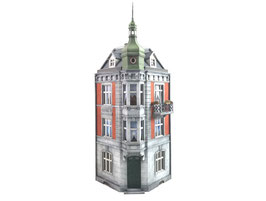 Stangel - 1:32   Eckhaus mit Balkon
