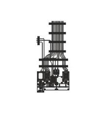 Stangel - 0 | Schaltanlage mit Kabeln Bausatz