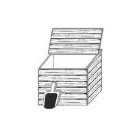 Stangel - 0 | Holzkiste mit Schaufel o Kompost o Kartoffelkiste  Bausatz