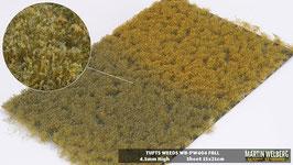 Welberg - PW404 Grasbüschel mit Unkraut, Herbst, 2-4 mm, 21x15 cm, einzeln vom Träger entnehmbar