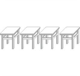 Stangel - 0 | 4 Hocker / Schemel Bausatz